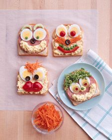 Make these fun open face sandwiches this summer from #MarthStewart! #Foodsaver #cutefood