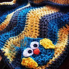 Chevron Owl Baby Blanketcustomized your way by LakeLivingDesigns