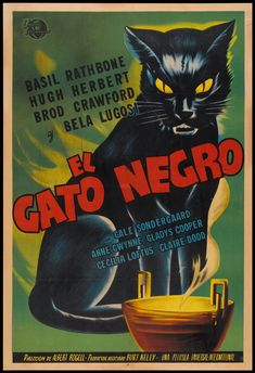 vintage+black+cat+images | ... images of the movie posters for the black cat are in order for today