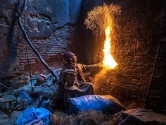 """@JayDickmanPhoto. During the most recent National Geographic """"Around the World by Private Jet"""" Expedition, in Morocco found this gentleman who was responsible for fueling the furnace (Farnatchi) keeping the water heated in public baths in the Marrakech souk. Shot with Olympus E-M1 and 12-40mm Pro lens. @natgeocreative"""
