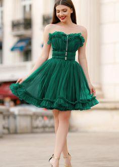 rochii ocazie efess scurta tulle verde