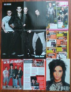 TOKIO HOTEL - BILL KAULITZ TOM - POSTERS CLIPPINGS | eBay