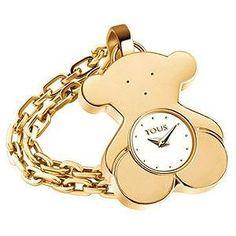 Reloj colgante Tous oro