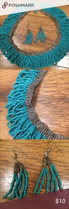2 for $15. Necklace & earring set 2 for $15. Turquoise and silver Jewelry