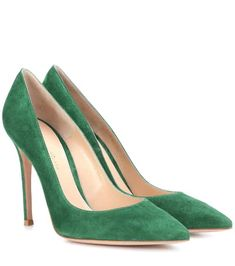 Covered in plush suede in a beguiling deep green hue, these impeccable Gianvito 105 pumps from Gianvito Rossi are soaring straight to the top of our wish list for the coming season. With a slender heel and pointed toe, . Pump Shoes, Women's Shoes Sandals, Court Shoes, Flats, Stiletto Heels, High Heels, Mint, Green Suede, Online Dress Shopping