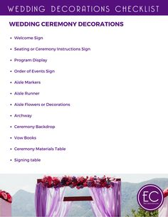 Wedding decorations on a budget a free printable checklist easy ways to party plan on a budget free printables wedding decorations junglespirit Gallery