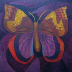 Purple and Orange Butterfly 3