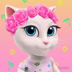 Celebrating the summer solstice, xo Talking Angela Disney Art Style, Summer Solstice, Kids Corner, Best Artist, Game Character, Pet Shop, Animals And Pets, Princess Peach, Chibi