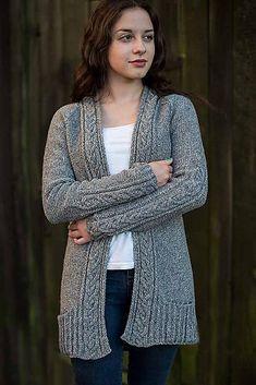 the online pattern store Knit Cardigan Pattern, Sweater Knitting Patterns, Knit Patterns, Raglan, How To Start Knitting, Overall, Knit Crochet, Sweaters, Ayurveda