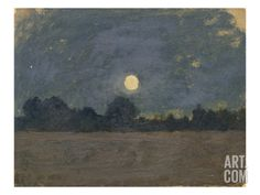 Nocturne (huile sur carton, 18 x cm) - Odilon Redon Nocturne, Landscape Paintings, Redon, Odilon Redon, Painting, Illustration Art, Original Art, Prints, Scenic Art