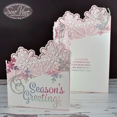 Tutorial showing how to create z-fold card using Snowflake Sentiments by Sue Vine | MissPinksCraftSpot | Stampin' Up!® Australia Order Online 24/7 |Snowflake Sentiments |z-fold | Christmas | Fun Fold | #snowflakesentiments #christmas #zfold #funfold #tutorial #handmadecard #rubberstamp #stampinup