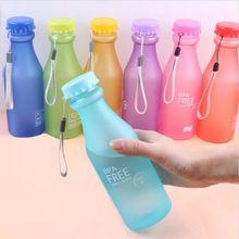 Unbreakable portátil à prova de vazamento-bicicleta esportes 550 ml garrafa de água de plástico lemon juice chaleira drinkware frete grátis(China (Mainland))