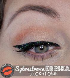 Make-up: Sylwestrowa kreska brokatowa Eyeliner, Eye Liner, Eyeliner Pencil