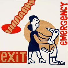 emergency exit  por ARTeFAKTshop en Etsy