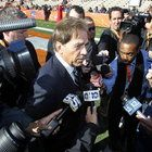 News and notes from Nick Saban's first full news conference since the Sugar Bowl.