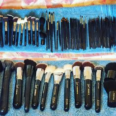 Putztag  Meine gereinigten Pinsel und ich sind bereit für die zwei Probe Make ups morgen   Freu mich auf meine zwei Bräute  by kacy - makeup & photo