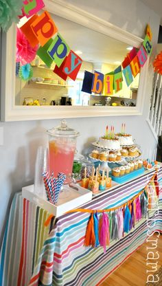 I like the Banner-could use any colors or words to match theme. Birthday/Baby shower/bachelorette/Holidays/etc...