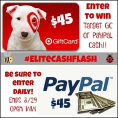 Weekend Cash Flash Giveaway - Win $45 Paypal or Target Gift Card - It's Free At Last