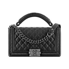 Boy CHANEL flap bag with handle ❤ liked on Polyvore featuring bags, handbags, chanel, handle handbag, chanel bags, chanel handbags, handbags purses and man bag