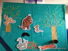 After a successful Woodchip session based on The Hungry CaterpillarI decided to build on this idea and do The Gruffalo for Ben's 4th birthday party. The party was in 2 parts, a trip to the woods and then craft in the hall – it sounds so easy and simple put like that – several hours …