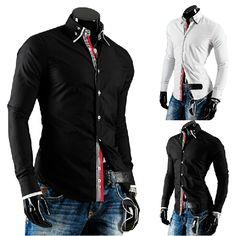 2014 nuevos hombres del diseño de la personalidad tapeta rayas cinta de color del golpe de ocio camisa de manga larga del otoño del resorte camisa de vestir para hombre en Camisas Casuales de Moda y Complementos Hombre en AliExpress.com | Alibaba Group