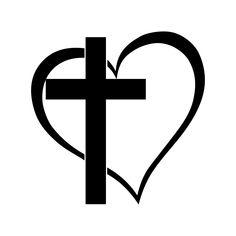 Cross Heart Jesus God Heart Love graphics by vectordesign on Zibbet Art Clipart, Cross Clipart, Png Vector, Vector Art, Cross Heart Tattoos, Paar Tattoo, Cross Pictures, Tattoo Zeichnungen, God's Heart