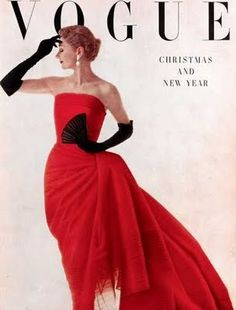 """Jean Patchett, 1950s Vogue. I don't care what """"California casual"""" says; black opera gloves are hot."""