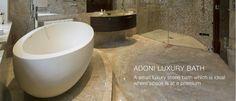 The ultimate small luxury stone designer bath