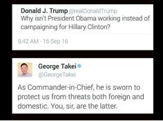 Funny Quotes About Donald Trump by Comedians and Celebrities: George Takei on Trump