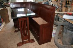 pub table and bench