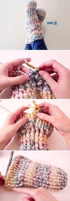 How To Crochet Beautiful Slipper Socks Free Pattern