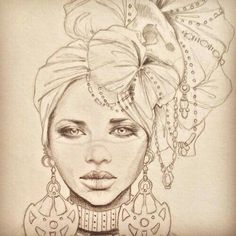 Fabulous Drawing On Creativity Ideas. Captivating Drawing On Creativity Ideas. Black Girl Art, Black Women Art, Black Art, Kunst Tattoos, Body Art Tattoos, African Queen Tattoo, Afrika Tattoos, Art Sketches, Art Drawings