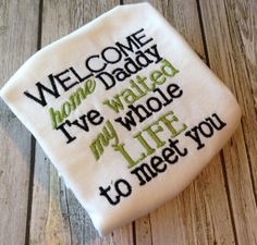 Hey, I found this really awesome Etsy listing at http://www.etsy.com/listing/127092031/homecoming-waited-my-whole-life-to-meet
