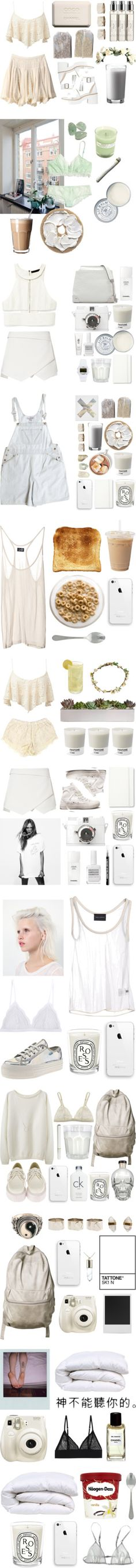 """""""The White Collection"""" by baludna ❤ liked on Polyvore"""