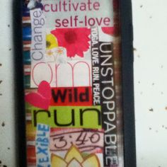 DIY iPod case using magazine cutouts and clear case. Got idea from Pinterest friends :)