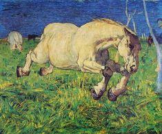 Giovanni Segantini, Cavallo al galoppo