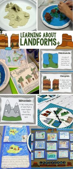 Learning About Landforms: A complete science unit with hands-on projects, activities, and literacy centers for teaching and writing about landforms. Includes 21 reference charts, lesson plans, and bulletin board display. For 2nd, 3rd, and 4th grade.