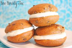 The most AMAZING pumpkin chocolate chip whoopie pies you'll ever eat!