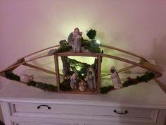 Il mio #presepe in un vecchio prete da letto #tepiaceopresepio #handmade #davidebalugani #scaldaletto #amici