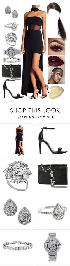 """""""MTV Movie Awards: April 6"""" by allison-syko ❤ liked on Polyvore featuring ABS by Allen Schwartz, Schutz, Bulgari, Yves Saint Laurent, EWA and Cartier"""