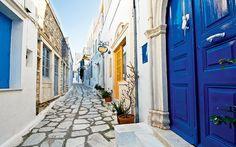 Pyrgos village in Tinos island