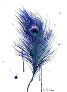 love this watercolor featherrr