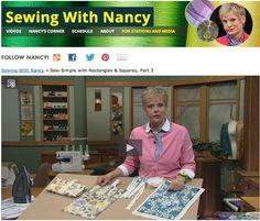 Sewing With Nancy Zieman Napkins Nancy Zieman, Sewing With Nancy, Love Sewing, Basic Sewing, Learn Sewing, Quilting Tutorials, Sewing Tutorials, Dress Tutorials, Professor