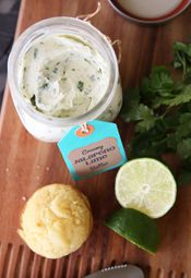 Jarred Jalapeno Lime Butter from Our Best Bites sm uses cream cheese...use full fat if using not the lowfat in recipe.