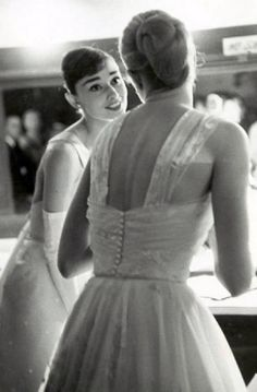 Audrey Hepburn and Grace Kelly. So much grace and elegance in one room.