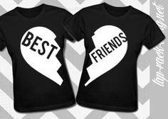BEST FRIENDS  Shirt Set  Women's BFF Matching by TapRackBang, $34.99