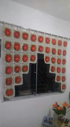 Crochet Curtains are widely used in decorating various environments, it provides more beauty to the most diverse rooms in the house, from rooms, bedrooms, Crochet Curtain Pattern, Crochet Applique Patterns Free, Crochet Towel, Crochet Curtains, Crochet Cushions, Curtain Patterns, Crochet Art, Filet Crochet, Crochet Blanket Patterns