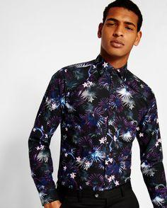 dff5cfea86b1 Jungle print cotton shirt Mens Designer Shirts