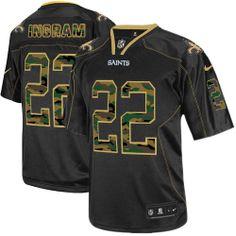 Mens Elite Mark Ingram Jersey Nike New Orleans Saints #22 Black Camo Fashion NFL Jerseys