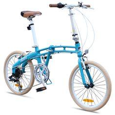 "GOTHAM2 Citizen Bike 20"" 7-Speed Folding Bike with Alloy Frame.  Super cool! I want one!"